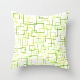 #52. JOJO - Squares Throw Pillow