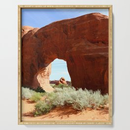 At The End Of The Trail - Pine Tree Arch Serving Tray