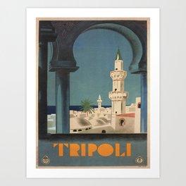 Vintage poster - Tripoli Art Print