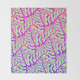 'Ecstacy' 70's Psych Poster Fade Pattern Throw Blanket