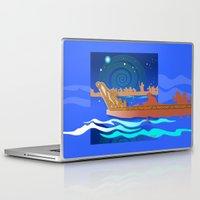 maori Laptop & iPad Skins featuring Maori Canoes : Waka by Patricia Howitt