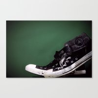 sneakers Canvas Prints featuring Sneakers  by Nicholas G. Benvenuto