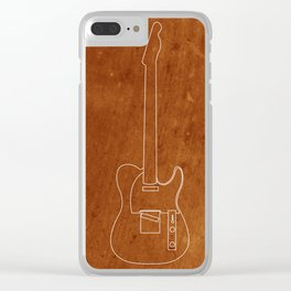 Texas Blues Clear iPhone Case