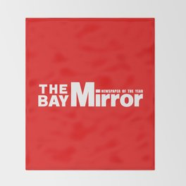 The Bay Miror Logo Throw Blanket