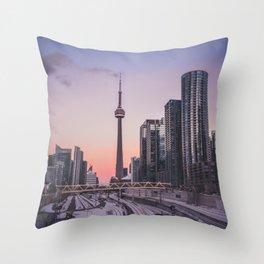 Toronto Cityscape Throw Pillow