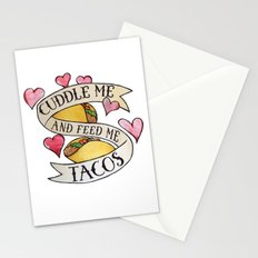 Cuddle me and Feed me Tacos Stationery Cards