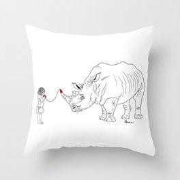 Danger Kids: Imaginary Friend Throw Pillow