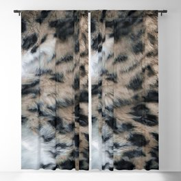 Snow Leopard Fur Abstract Blackout Curtain