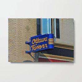 Ottawa Tavern on Adams Metal Print