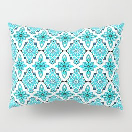 Turquoise Moroccan tile Pillow Sham