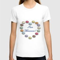 macaroons T-shirts featuring I love macaroons by Vannina