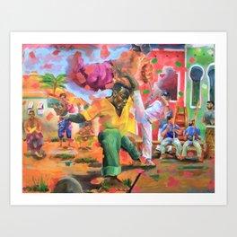 Origins of Capoeira Art Print