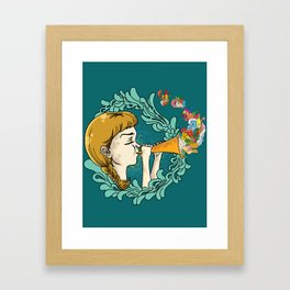 Girl with Trumpet Framed Art Print