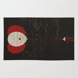 Pennywise the Clown - Stephen King's IT Inspired vintage movie poster Rug