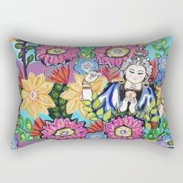 White Tara Rectangular Pillow