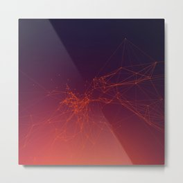 Sunset gradient connection Metal Print