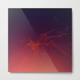 Sunset gradient connection Metal Print