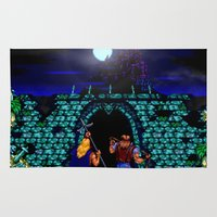 castlevania Area & Throw Rugs featuring Dark Castle by VGPrints