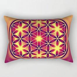 FLOWER OF LIFE batik style yellow red Rectangular Pillow