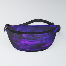 Ultraviolet Light Speed - Abstract Glitch Pixel Art Fanny Pack