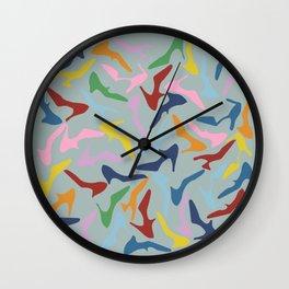 Shoes Zoom Grey Wall Clock