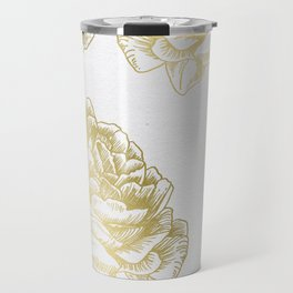 Gold Roses Travel Mug