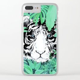 Tiger in the Jungle Clear iPhone Case