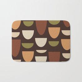 Brown & Orange Bowls Bath Mat