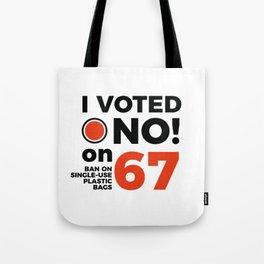 No on 67 Tote Bag