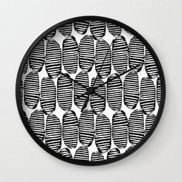 Abstract Hand Drawn Patterns No.6 Wall Clock