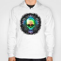 marijuana Hoodies featuring Marijuana Psychedelic Skull by BluedarkArt