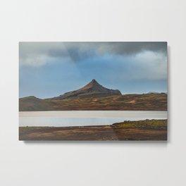Road Trip in Iceland. || Icelandic Lake and Mountains. || MadaraTravels Art Print Metal Print