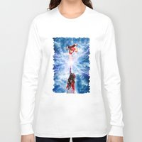 wreck it ralph Long Sleeve T-shirts featuring THOR vs RALPH by Raisya