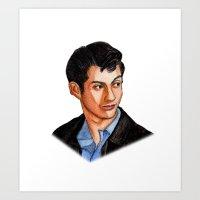 alex turner Art Prints featuring Alex Turner by Janet Datu