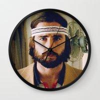 tenenbaum Wall Clocks featuring Richie Tenenbaum by VAGABOND