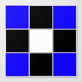 TEAM COLORS 3 ....Black , blue Canvas Print