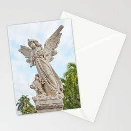 Necropolis Graveyard Statue Broken Angel Marble Cuba Island Carving Art Icon Christian Saint Holy Go Stationery Cards