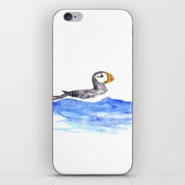 horned puffin iPhone Skin