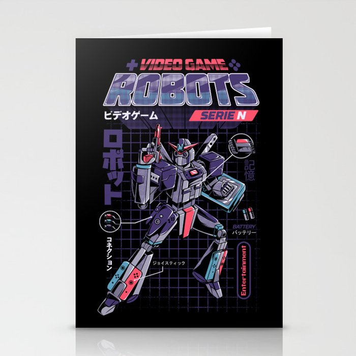 Video Game Robot - Model N Stationery Cards