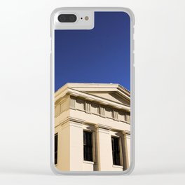 White Building Clear iPhone Case