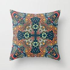 Ethnic mandala (Fire). Throw Pillow