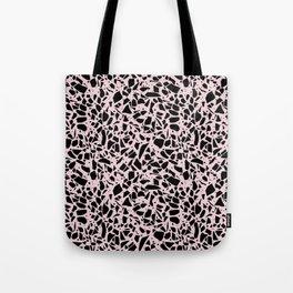 Terrazzo Spots Black on Blush Repeat Tote Bag
