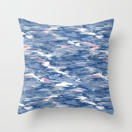 Scribbling with a crayon Throw Pillow