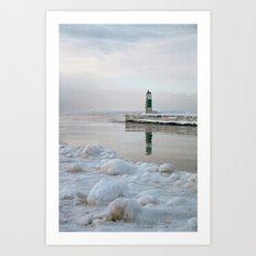Winter in Holland, Michigan Art Print