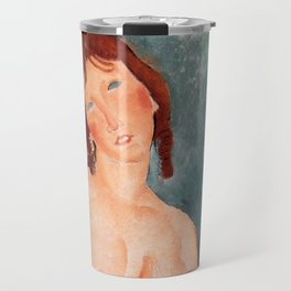 "Amedeo Modigliani ""Young Woman in a Shirt (The Little Milkmaid)"" Travel Mug"