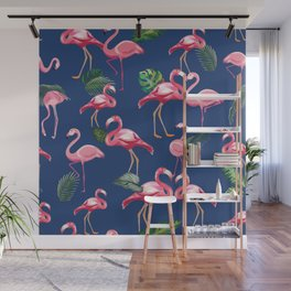 Flamingos Love Pattern 8 Wall Mural