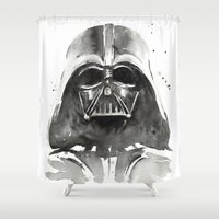 darth vader Shower Curtains featuring Darth Vader by Olechka