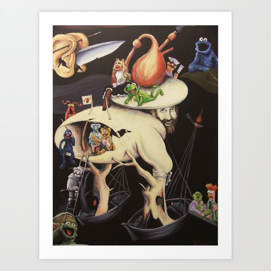 The Garden of Muppetly Delights Art Print