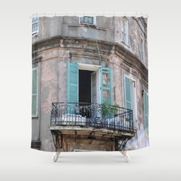 New Orleans French Quarter Balcony Shower Curtain