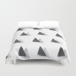black and grey Duvet Cover